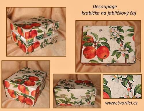Decoupage - krabička na čaj