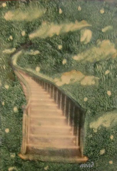 enkaustika - schody do nebe