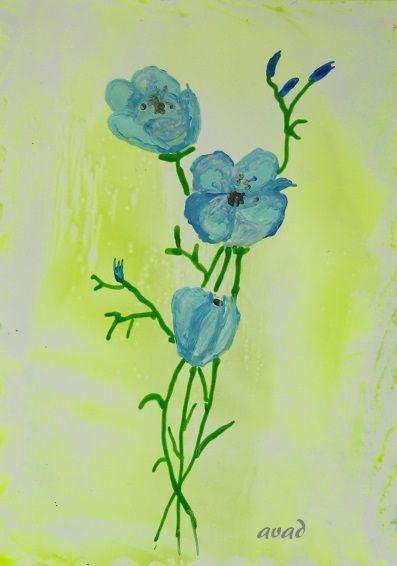 enkaustika - květina