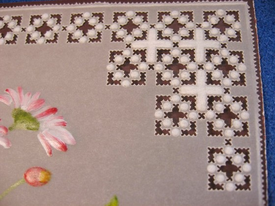 papírová krajka detail ozdobného rohu