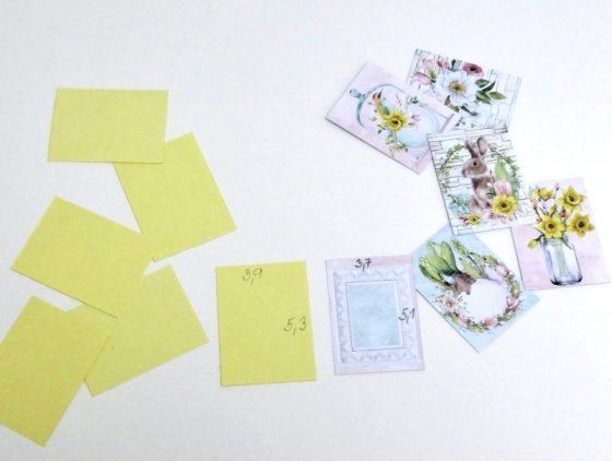 kartičky a podklad