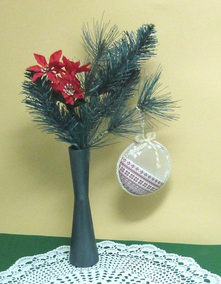 decoupage vánoční ozdoba