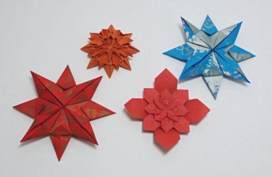 origami - květy a hvězdy
