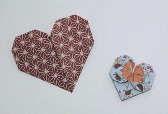 origami - srdíčka