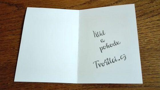 Ukázka textu v přání